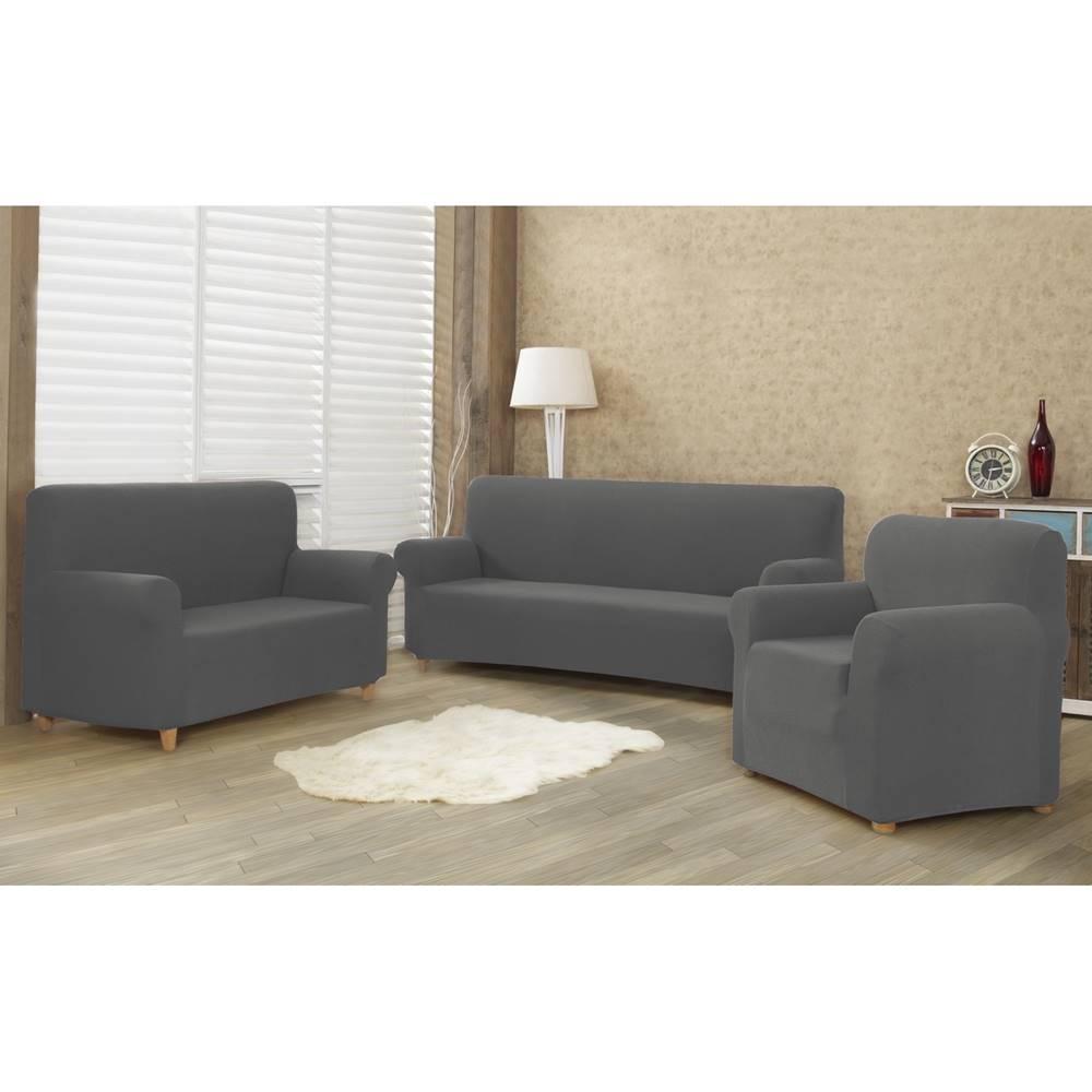 4Home 4home Multielastický poťah na sedaciu súpravu Comfort sivá, 180 - 220 cm