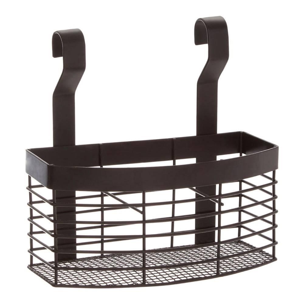 Čierny závesný košík do kuc...