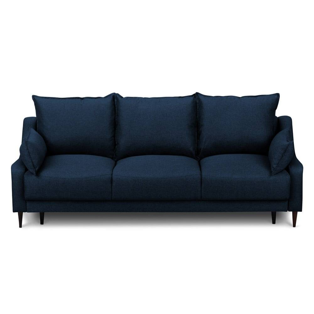 Mazzini Sofas Modrá rozkladacia pohovka s úložným priestorom Mazzini Sofas Ancolie, 215 cm
