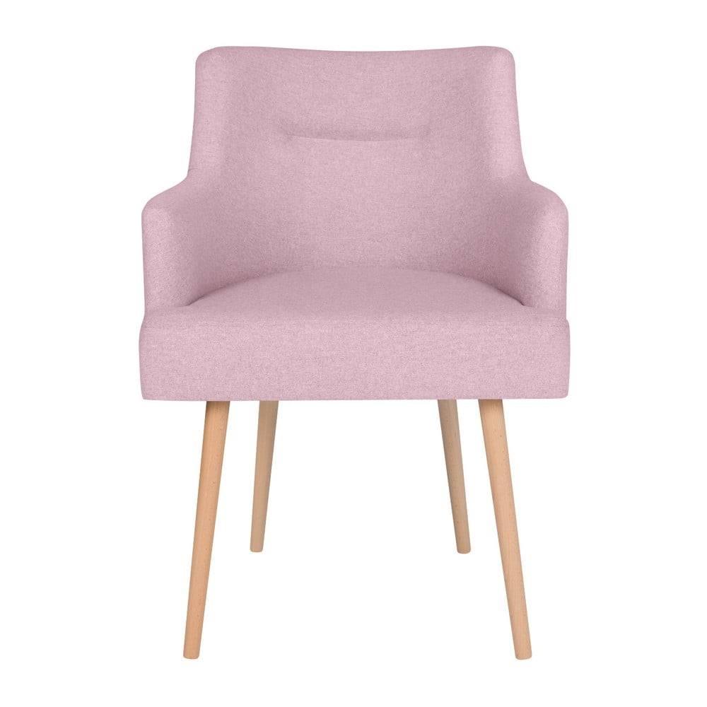 Ružová jedálenská stolička ...