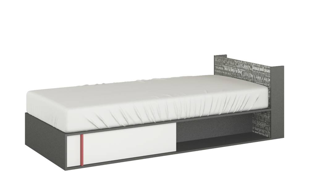 Posteľ s roštom a matracom ...
